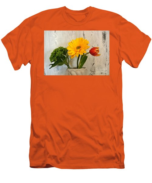 Men's T-Shirt (Slim Fit) featuring the photograph Modern Bouquet by Marsha Heiken