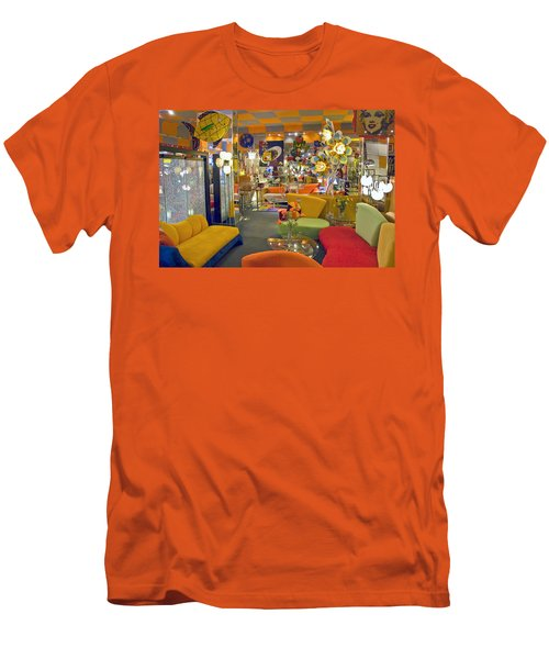 Men's T-Shirt (Slim Fit) featuring the photograph Modern Deco Furniture Store Interior by David Zanzinger