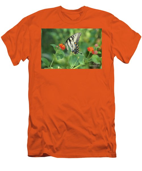Men's T-Shirt (Slim Fit) featuring the painting Monarch Butterfly by Debra Crank