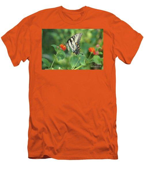 Monarch Butterfly Men's T-Shirt (Slim Fit) by Debra Crank