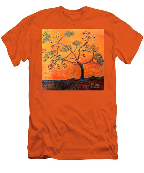 Orange Flamboyan Men's T-Shirt (Athletic Fit)
