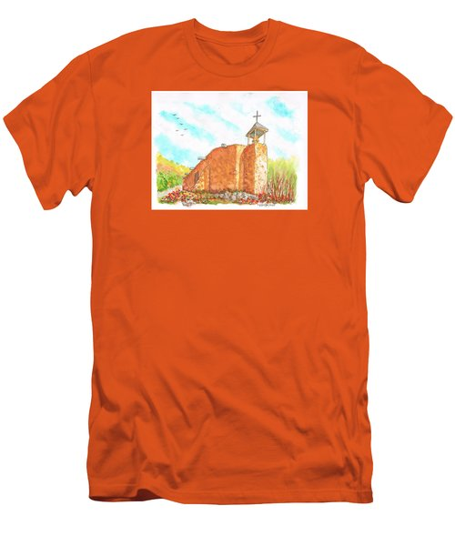 Morada De La Conquistadora Chapel, Santa Fe, New Mexico Men's T-Shirt (Athletic Fit)