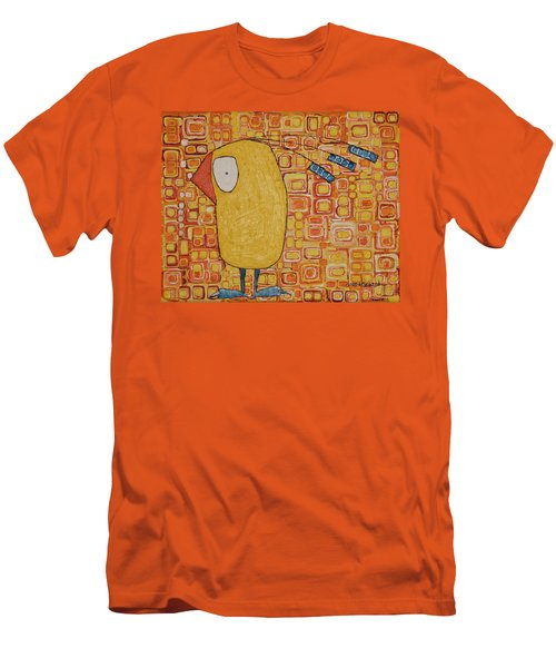 Morning Bird Men's T-Shirt (Slim Fit) by Donna Howard
