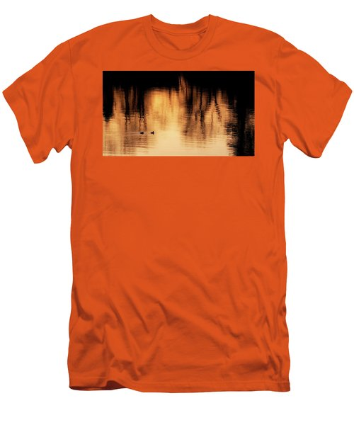 Men's T-Shirt (Slim Fit) featuring the photograph Morning Ducks 2017 by Bill Wakeley