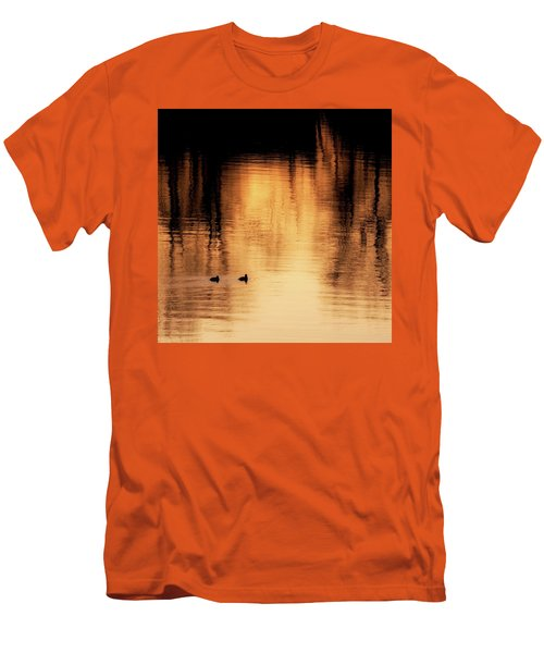 Men's T-Shirt (Slim Fit) featuring the photograph Morning Ducks 2017 Square by Bill Wakeley