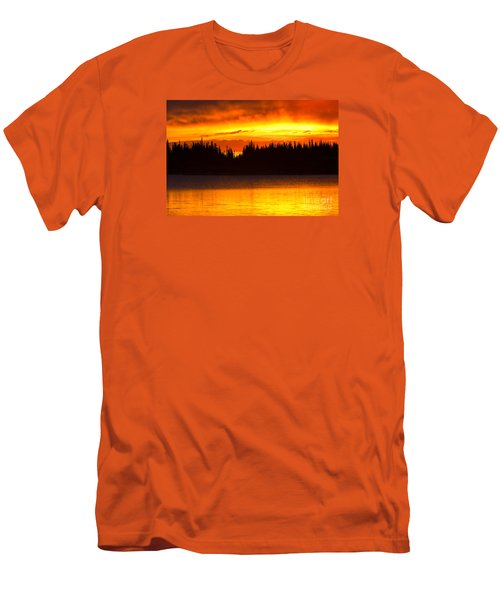 Men's T-Shirt (Slim Fit) featuring the photograph Morning Fire by Aaron Whittemore
