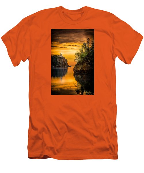 Morning Glow Against The Light Men's T-Shirt (Slim Fit) by Rikk Flohr