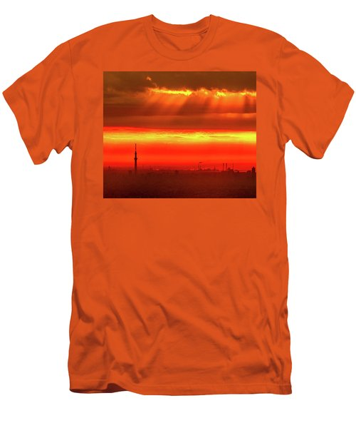 Morning Glow Men's T-Shirt (Slim Fit) by Tatsuya Atarashi