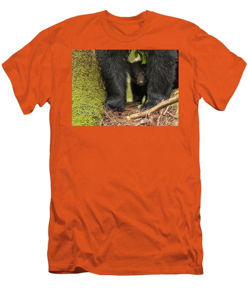 Mothers Day Bear Card Men's T-Shirt (Slim Fit) by Everet Regal