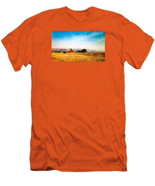 Men's T-Shirt (Slim Fit) featuring the photograph Moulton Barn by Cathy Donohoue
