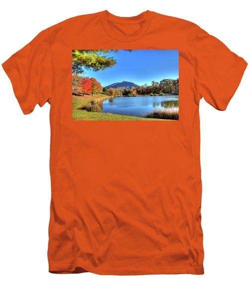 Mount Jefferson Reflection Men's T-Shirt (Slim Fit) by Dale R Carlson