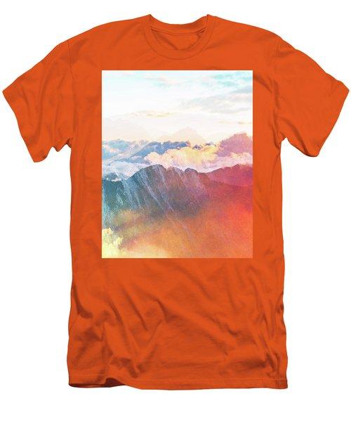 Mountain Glory Men's T-Shirt (Slim Fit) by Uma Gokhale