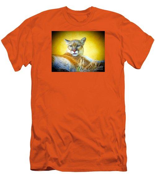 Mountain Lion Two Men's T-Shirt (Athletic Fit)