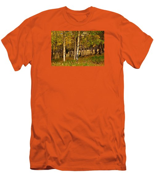 Men's T-Shirt (Slim Fit) featuring the photograph Mountain Meadow by Laura Ragland