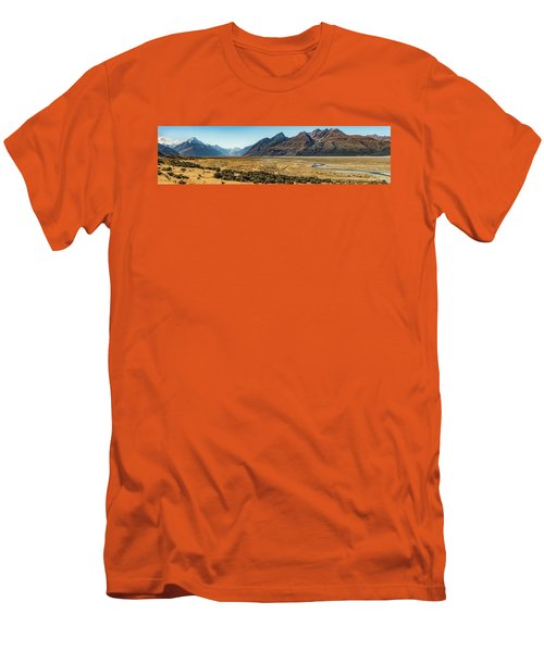Men's T-Shirt (Athletic Fit) featuring the photograph Mt Cook And Tasman River  by Gary Eason