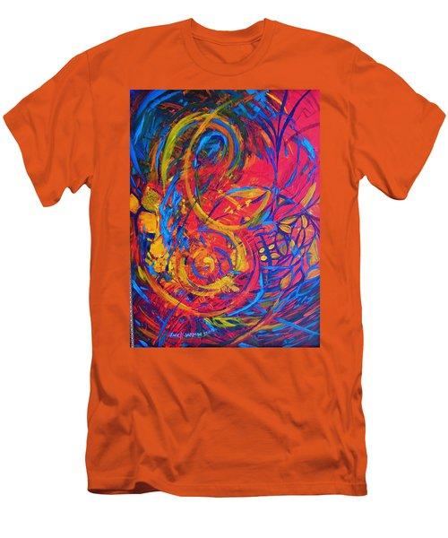 Music Men's T-Shirt (Slim Fit) by Jeanette Jarmon