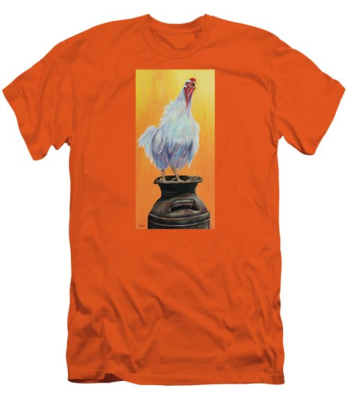 My Crazy Chicken Men's T-Shirt (Athletic Fit)