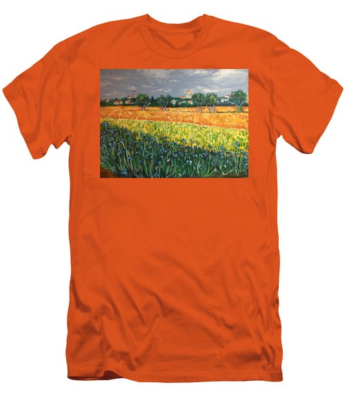 My View Of Arles With Irises Men's T-Shirt (Athletic Fit)