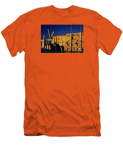 Men's T-Shirt (Slim Fit) featuring the digital art National Warehouse Corp by David Blank