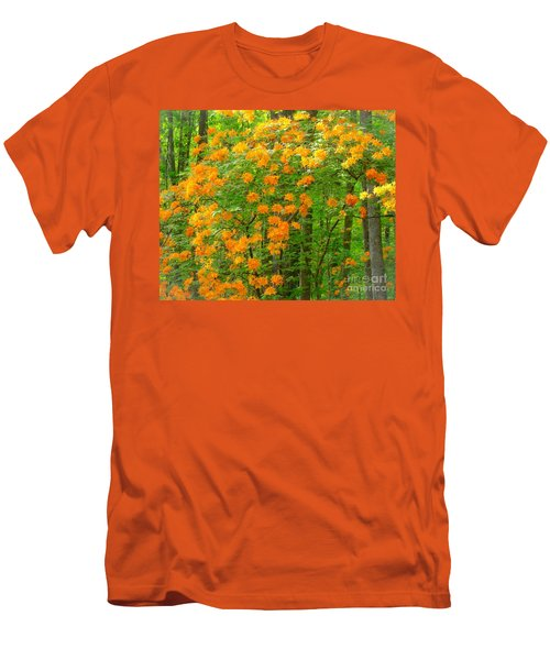 Men's T-Shirt (Slim Fit) featuring the photograph Natural Wild Azaleas  by Rand Herron