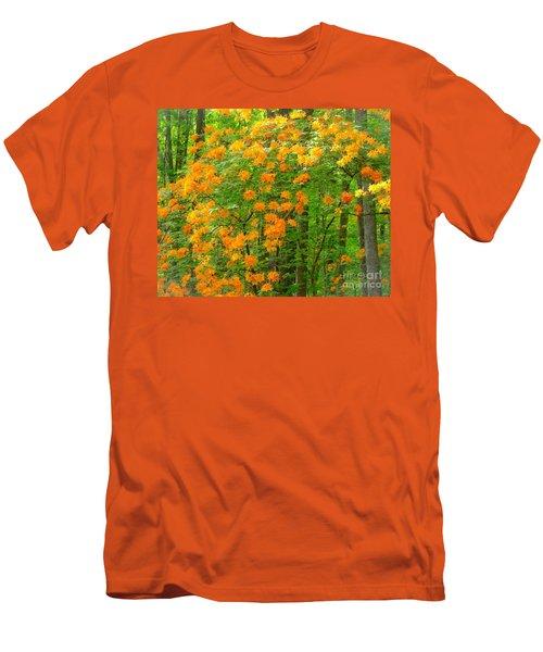 Natural Wild Azaleas  Men's T-Shirt (Slim Fit) by Rand Herron