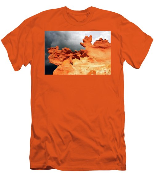 Men's T-Shirt (Slim Fit) featuring the photograph Nature's Artistry Nevada 2 by Bob Christopher