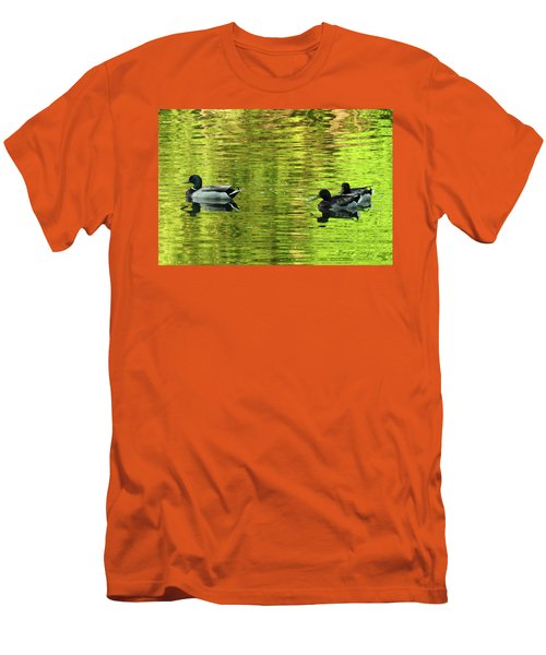 Men's T-Shirt (Slim Fit) featuring the photograph Nature's Impressionist Art No.3 by Janice Adomeit