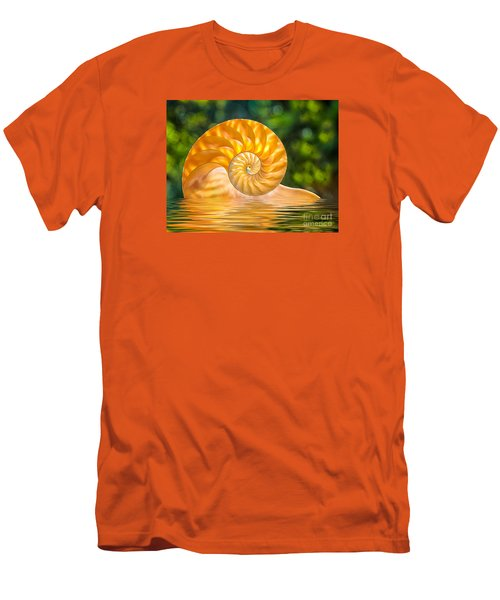 Nautilus Shell Submerged In Water Men's T-Shirt (Athletic Fit)