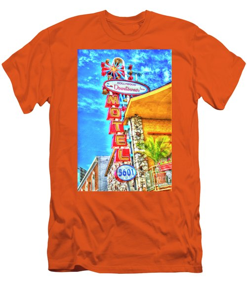 Neon Motel Sign Men's T-Shirt (Slim Fit) by Jim And Emily Bush