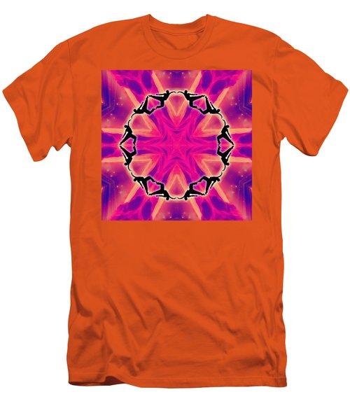 Men's T-Shirt (Athletic Fit) featuring the digital art Neon Slipstream by Derek Gedney