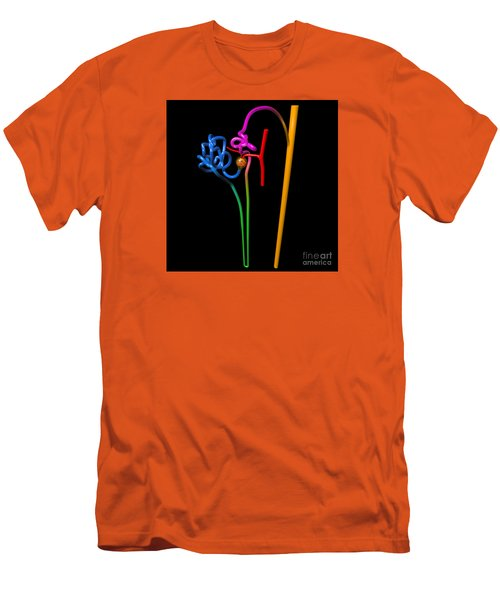 Men's T-Shirt (Athletic Fit) featuring the digital art Nephron Black by Russell Kightley