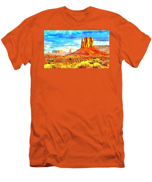New Mexico Beautiful Desert - Pa Men's T-Shirt (Athletic Fit)