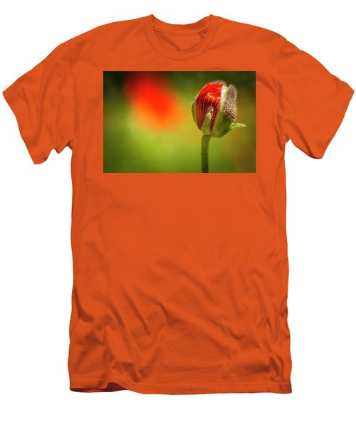 New Orange Poppy Bloom Men's T-Shirt (Athletic Fit)