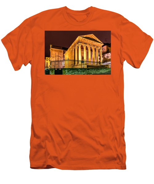 Night At The Roman Temple Men's T-Shirt (Slim Fit) by Randy Scherkenbach