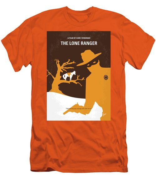 No202 My The Lone Ranger Minimal Movie Poster Men's T-Shirt (Athletic Fit)
