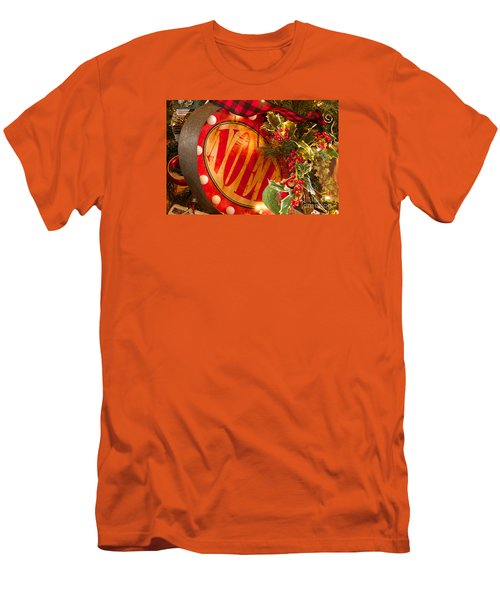 Men's T-Shirt (Slim Fit) featuring the photograph Noel Sign by Vinnie Oakes