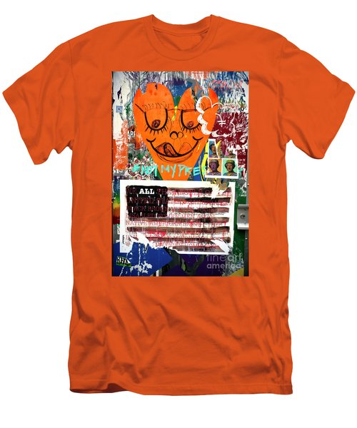 Men's T-Shirt (Slim Fit) featuring the photograph Not My President by John Rizzuto