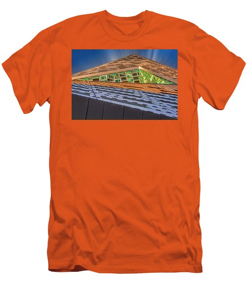 Men's T-Shirt (Slim Fit) featuring the photograph Nyc West 57 St Pyramid by Susan Candelario