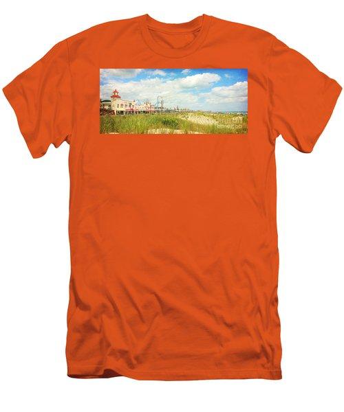 Ocean City Boardwalk Music Pier And Beach Men's T-Shirt (Athletic Fit)