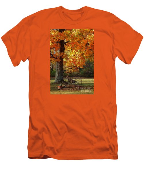 October Day Men's T-Shirt (Slim Fit) by Diane E Berry