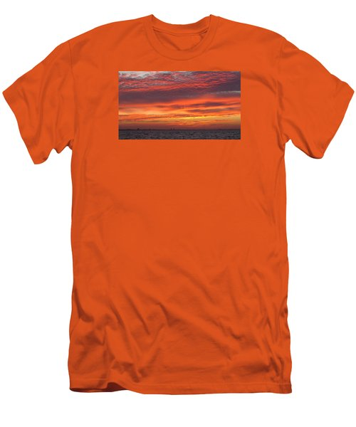 Men's T-Shirt (Slim Fit) featuring the photograph October's Sunrise On Sanibel Island by Melinda Saminski