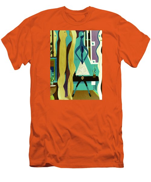Men's T-Shirt (Slim Fit) featuring the painting Office Party by Bill OConnor
