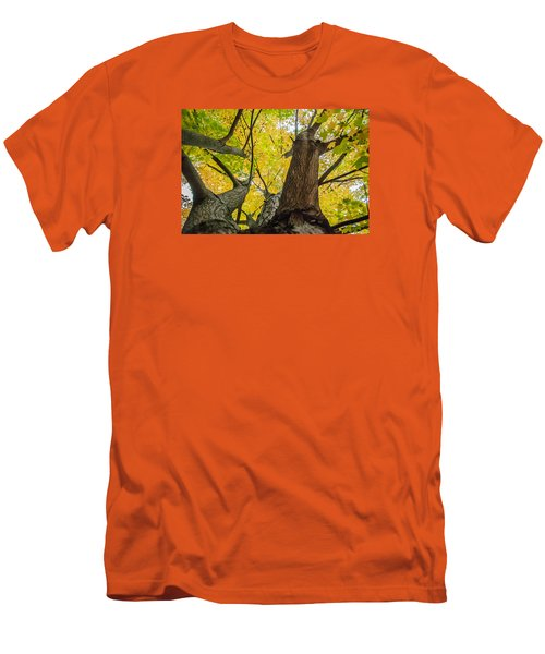 Men's T-Shirt (Slim Fit) featuring the photograph Ohio Pyle Colors - 9687 by G L Sarti