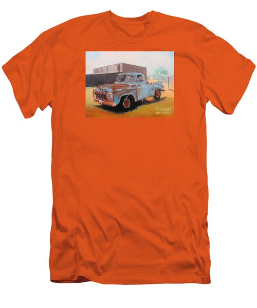 Old Blue Ford Truck Men's T-Shirt (Slim Fit)