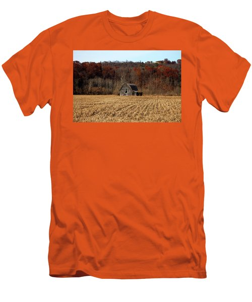 Old Country Barn In Autumn #1 Men's T-Shirt (Slim Fit) by Jeff Severson