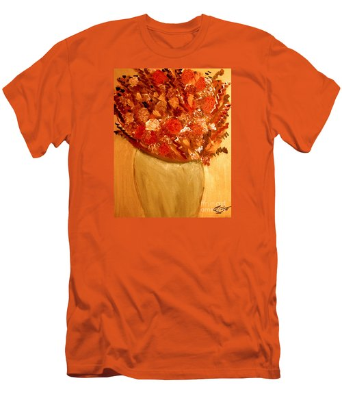 Men's T-Shirt (Slim Fit) featuring the painting Old Green Vase by Bill OConnor