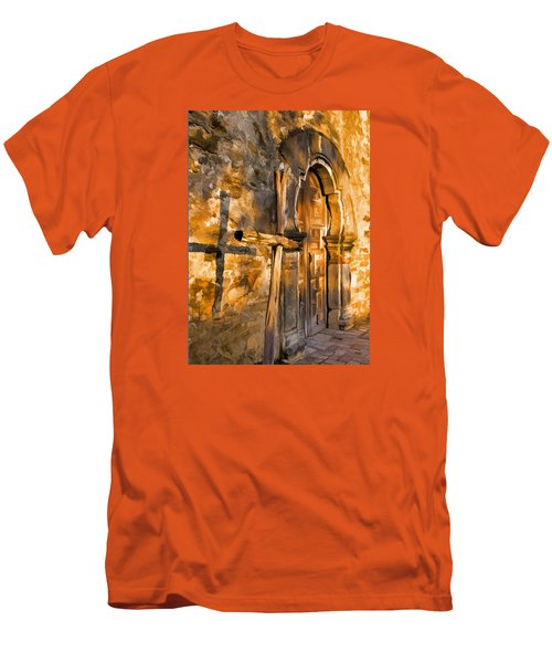 Old Mission Cross Men's T-Shirt (Slim Fit) by Dennis Cox WorldViews