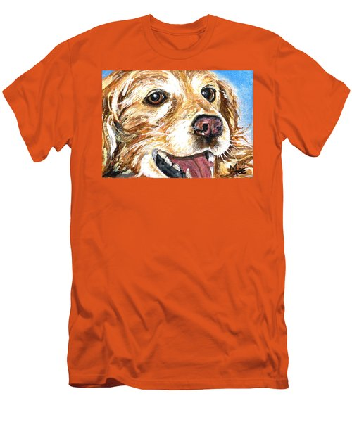 Oliver From Muttville Men's T-Shirt (Slim Fit) by Mary-Lee Sanders