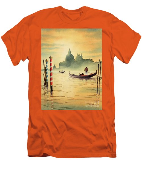 On The Grand Canal Venice Italy Men's T-Shirt (Slim Fit) by Bill Holkham