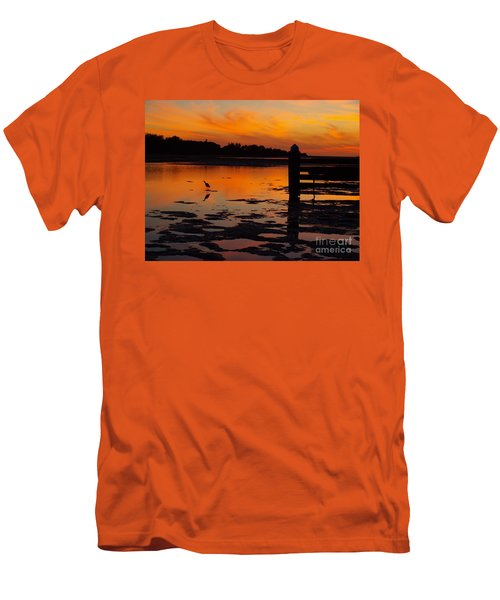 Men's T-Shirt (Slim Fit) featuring the photograph One Bird by Trena Mara